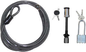 Bike rack security cable kit