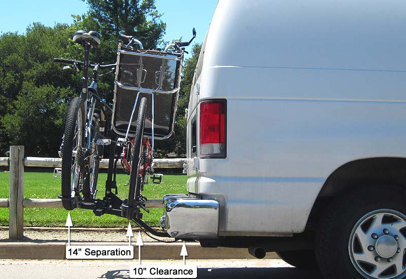 LWB recumbent and MTB on platform bike carrier