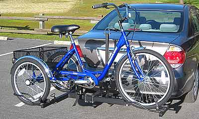 Adult trikes and hand cycle racks