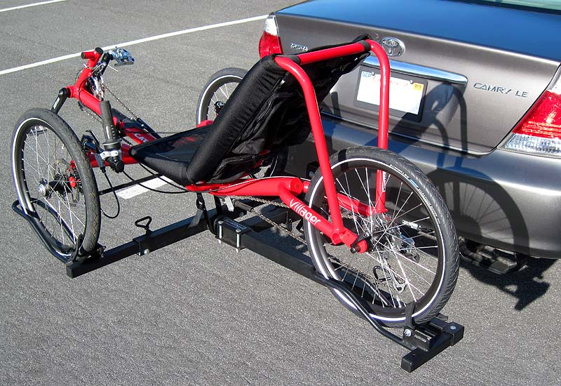Catrike Villager on Hitch Rider trike rack