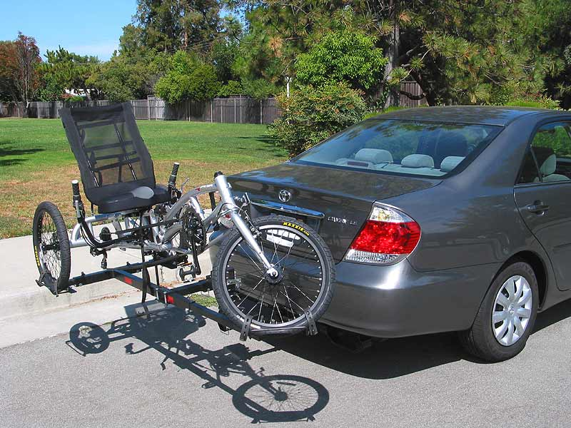 EZ-3 recumbent on Hitch Rider trike rack