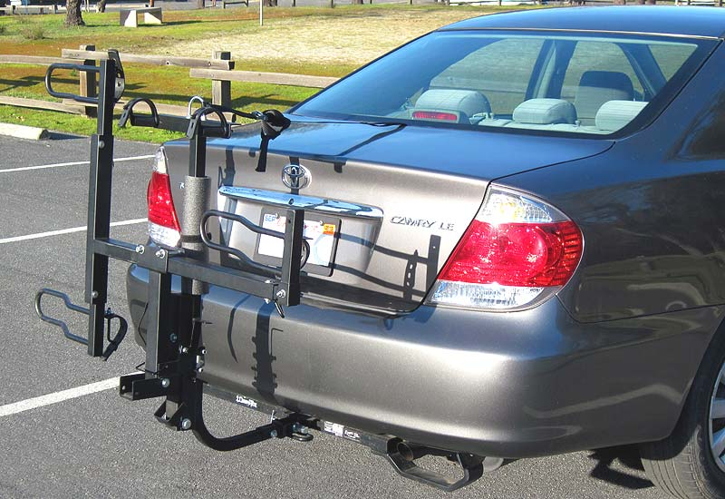 Trike-N-Bike hitch rack folded up