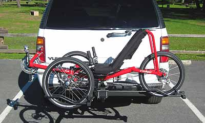 Recumbent tadpole and delta trike racks